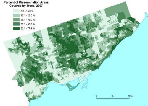 木の本数と健康状態の関係