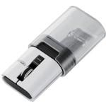 持ち運ぶときは超小型、使用時に伸ばして操作性が確保できる携帯型ワイヤレスマウス